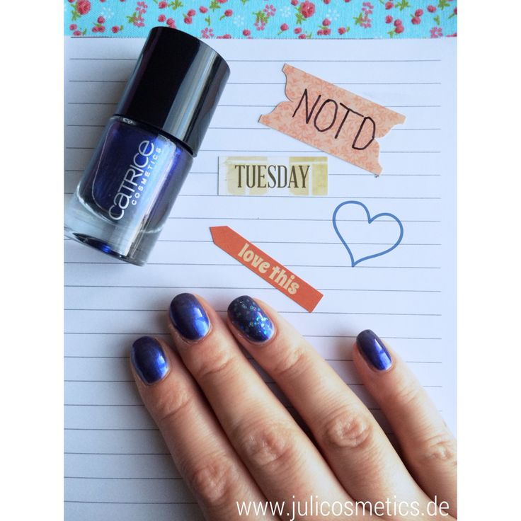 NOTD // Catrice 66 Blue and a half Men