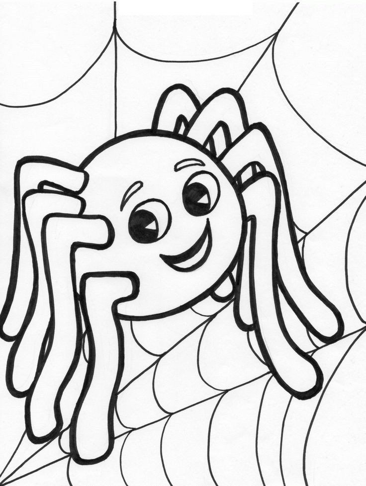 Easy Halloween Coloring Pages Easy To Color Halloween Spider Coloring Pages Halloween Coloring Book Kids Printable Coloring Pages Free Halloween Coloring Pages