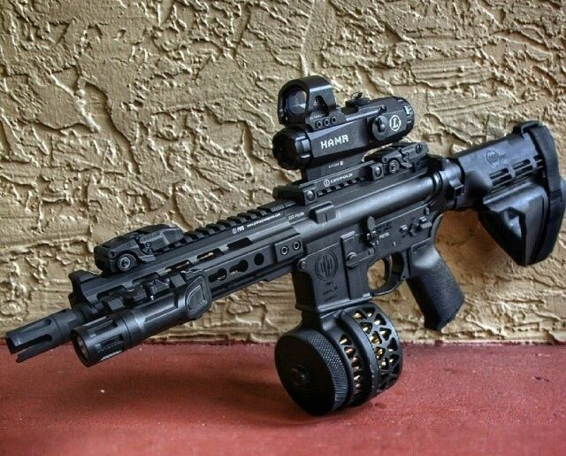 AR pistol with sig sb15 brace