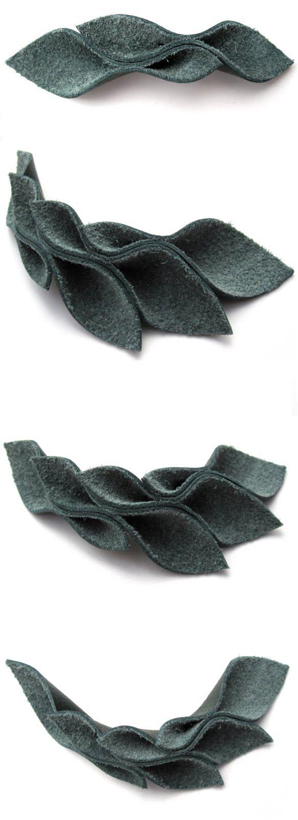 Stephanie Cardoso: como fazer um colar de couro folhas