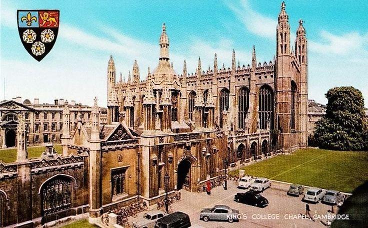 Vintage 1970s British Postcard Cambridge King's College Chapel UK Unposted