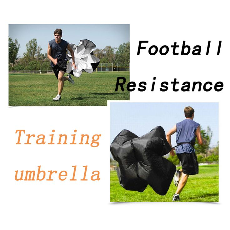 Football Training Resistance Umbrella Adjustable Sports Soccer Running Umbrella Track and Field Explosive Training Equipment #Affiliate