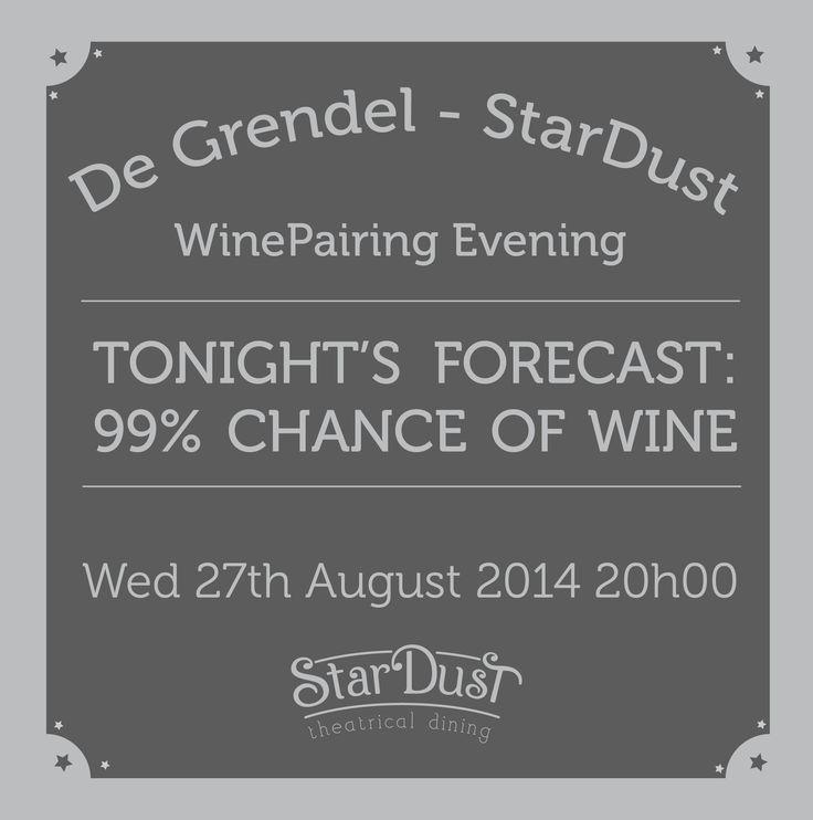 tonight's forecast - 99% chance of wine