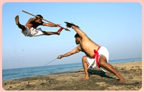 Kalaripayattu is an Indian martial art from the southern state of ancient Kerala. One of the oldest fighting systems in existence, it is now practiced in Kerala and contiguous parts of Tamil Nadu and Karnataka[citation needed] as well as northeastern Sri Lanka and among the Malayali community of Malaysia. It was originally practiced in northern and central parts of Kerala and the Tulunadu region of Karnataka.