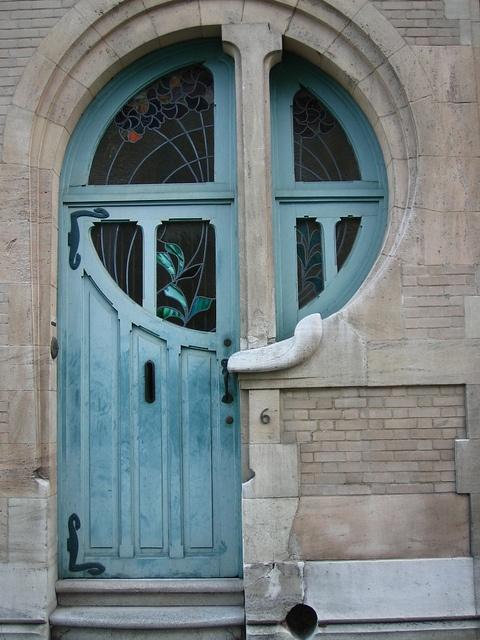 Brussels Art Nouveau door