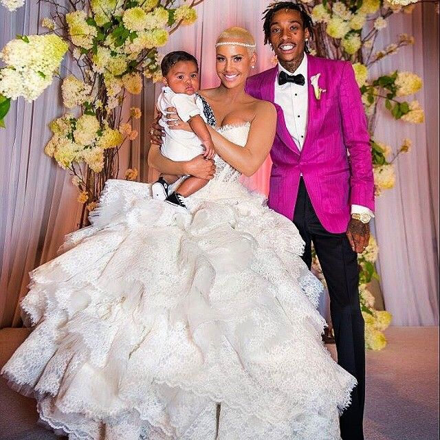 Making It To One Year! Wiz & Amber Rose.... 18 Aug. 2014