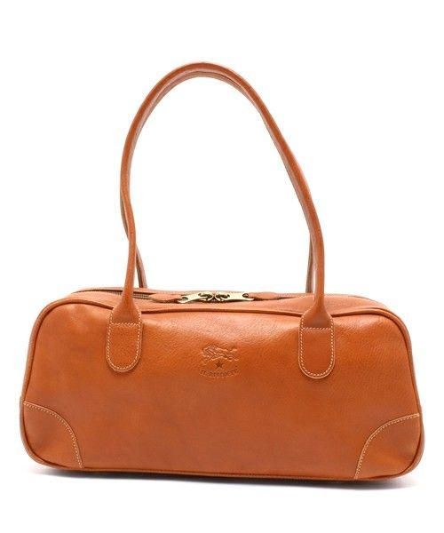IL BISONTE(イル ビゾンテ)のIL BISONTE / Boston Bag(ボストンバッグ)|ライトブラウン  #Repin by https://www.kensington-bespoke.uk - Bringing the #chic and #style of #Kensington High Street direct to your home.