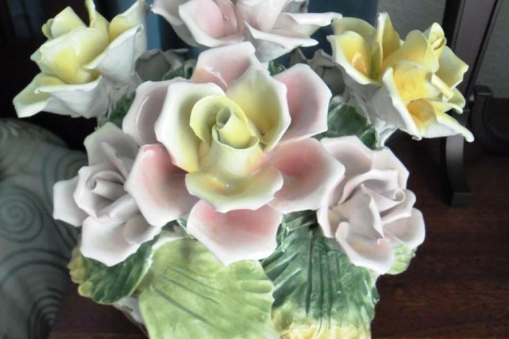 Images about capodimonte flower centerpiece on