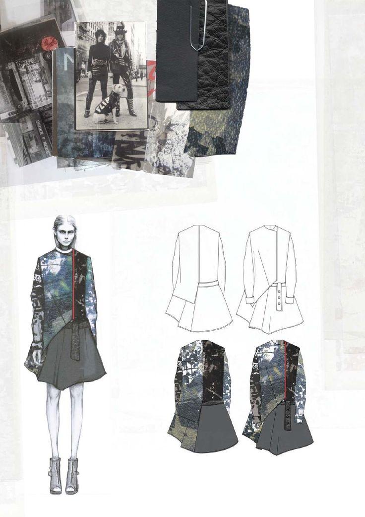Fashion Sketchbook - fashion design drawings, research & textile swatches; fashion portfolio // Amy Dee
