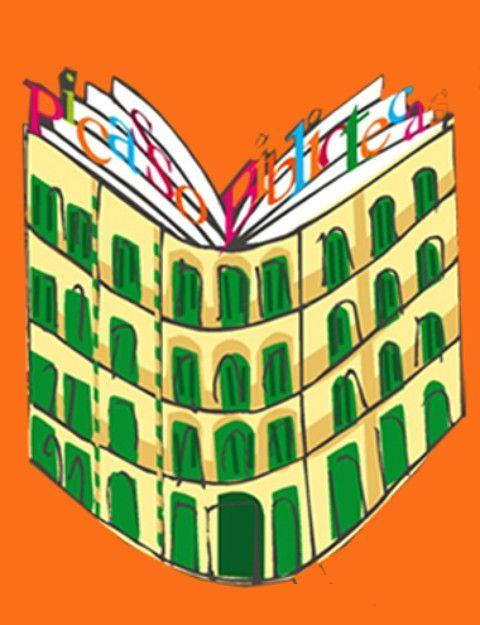 Con motivo de la efemérides del nacimiento del pintor Pablo Ruiz Picasso el 25 de octubre de 1881, la Red de Bibliotecas Públicas Municipales de Málaga, en colaboración con la Fundación Picasso Museo Casa Natal,  realizan diversas actividades dirigidas a escolares y a público juvenil y adulto. Este logo quiere recordar la imagen de la casa de la Plaza de la Merced, de Málaga, donde nació y vivió Pablo Ruiz Picasso. A la vez que se relaciona, por su parte alta con un libro. Diseña Natalia…