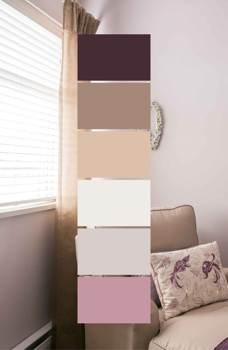 Benjamin Moore Portland Gray (2109-60) is a very dimensional wall colour that can work in many different settings. Here it is working well with lots of purple and taupe tones which all together has a pleasant feel to it.