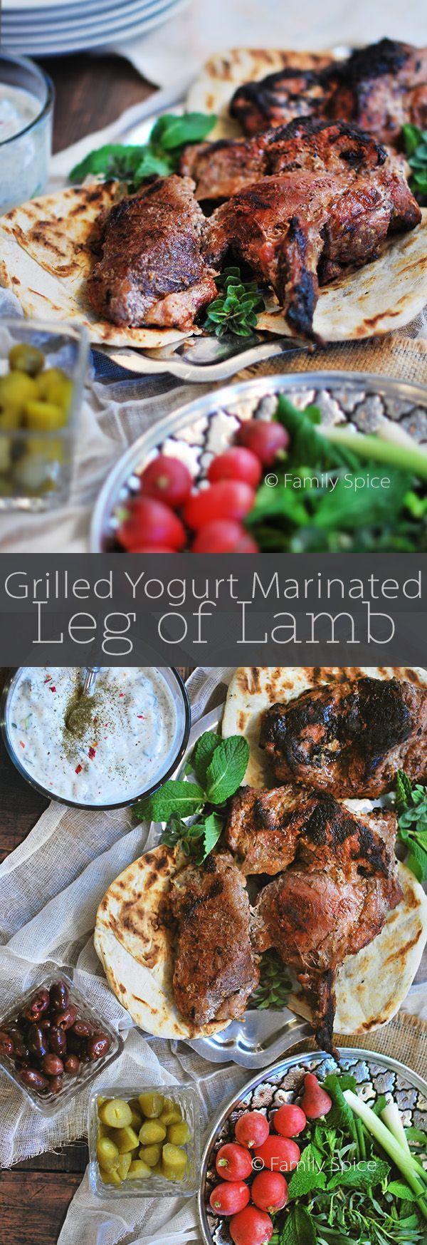 Grilled Yogurt Marinated Leg of Lamb by FamilySpice.com