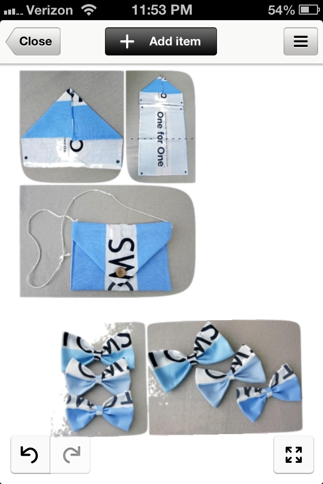 Here are a few of diy ideas..if you don't know what to do with those extra toms bags