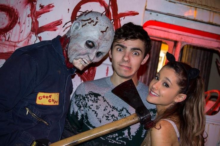 Ariana Grande And Nathan Sykes On A Halloween Date