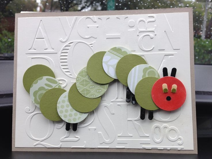 20 best images about cards - caterpillar on pinterest, Baby shower invitations