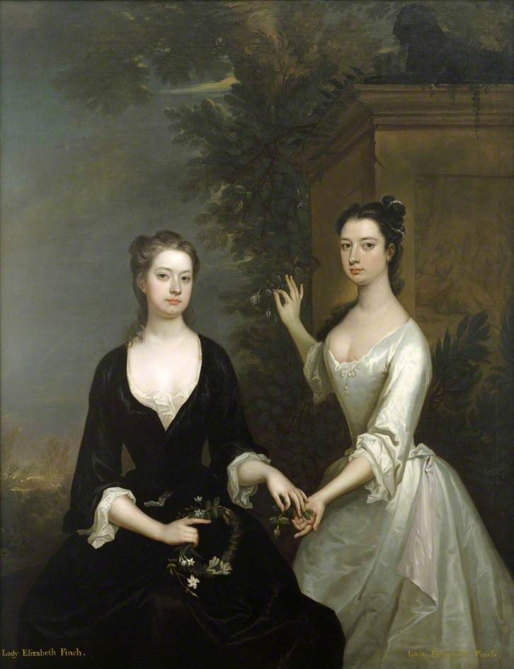 Bbc your paintings lady elizabeth and lady henrietta for C furniture coningsby