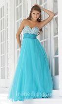 Elegant Sleeveless Natural Chiffon A-Line Prom Dress In Stock irene35419