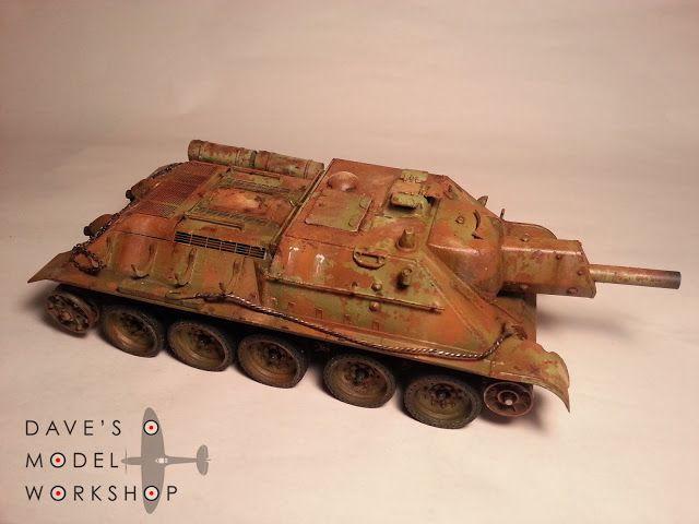 Rusty SU-122 in 1/35 scale. The build continues!