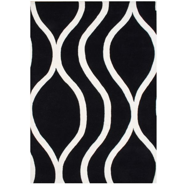Handmade Alliyah Black/ Off White New Zealand Blended Wool Rug X    Overstock™ Shopping   Great Deals On Alliyah Rugs   Rugs