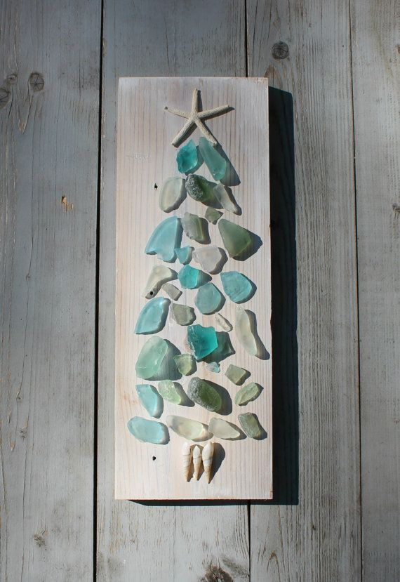 Seaglass Art/Coastal Living/Coastal Christmas Art~ by My Honeypickles