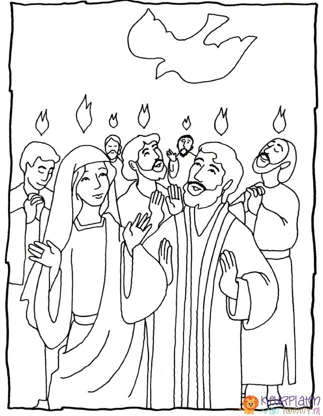 pentecost+coloring pages catholic