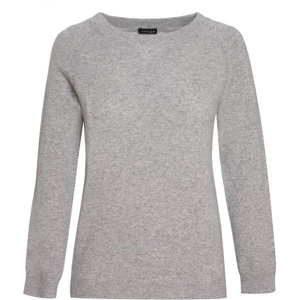 Jaeger Fitted pointelle sweater (325 BRL) ❤ liked on Polyvore featuring tops, sweaters, knitwear, sale, fitted tops, crewneck sweater, crew-neck sweaters, long sleeve tops and j.crew cashmere sweaters