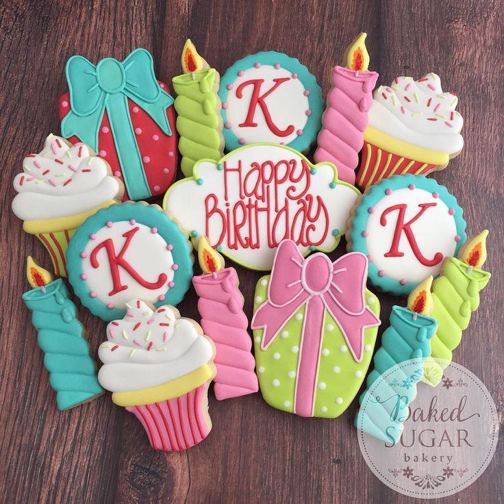 Happy Birthday K! #customcookies... - Baked Sugar Bakery