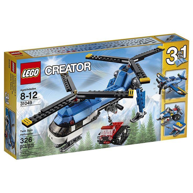Conheça o sensacional Lego Creator - Helicóptero de duas Hélices,  um incrível conjunto Lego que que vai conquistar a garotada. O helicóptero é espetacular, possui duas hélices e um gancho  para baixar um veículo de transporte. Além disso, com as mesmas peças também é possível montar um avião e um veículo de neve. Lego Creator leva a imaginação para um outro patamar, permitindo as crianças criarem uma nova aventura a cada brincadeira. Lego Creator é um brinquedo impecável que vai…