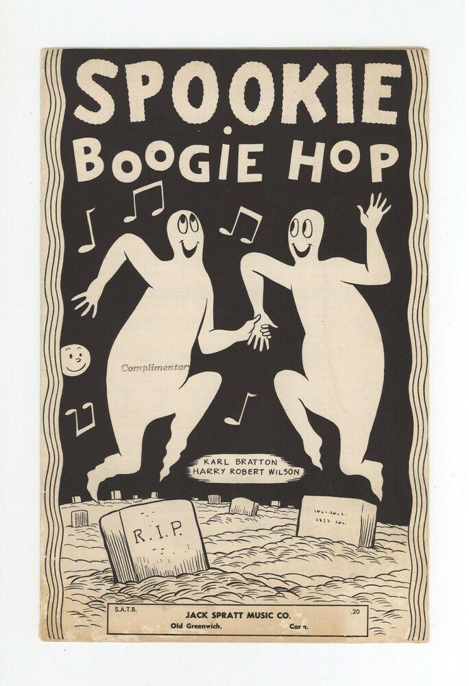 Castle Rock Halloween 2020 SPOOKIE BOOGIE HOP!   VERY RARE SHEET MUSIC   JACK SPRAT