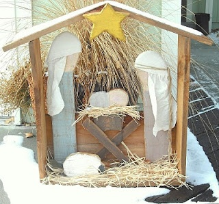 Outdoor Wood Nativity Set