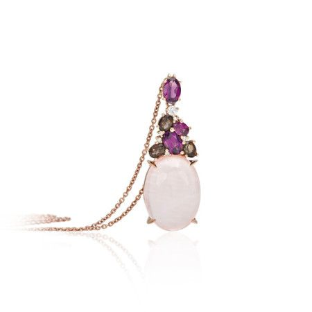 #Bibigi #Meraviglia is a new collection of Bibigì, made in pink gold, diamond, amethyst and different quartz. Small contemporary artworks create unique jewelry, necklaces, earrings and rings make up a rich, innovative and timeless parure.