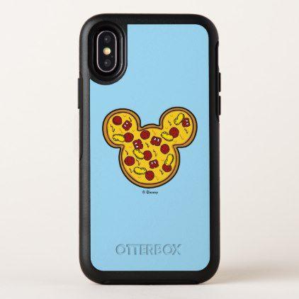 Trendy Mickey | Head-Shaped Pizza OtterBox Symmetry iPhone X Case - chic design idea diy elegant beautiful stylish modern exclusive trendy