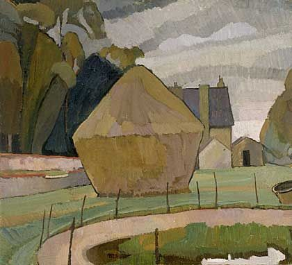 Landscape with Haystack  Vanessa Bell