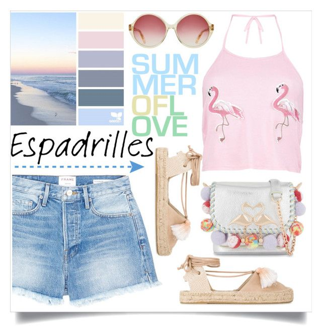 """Espadrilles"" by judysingley-polyvore ❤ liked on Polyvore featuring Boohoo, Frame, Soludos, Sophia Webster and espadrilles"