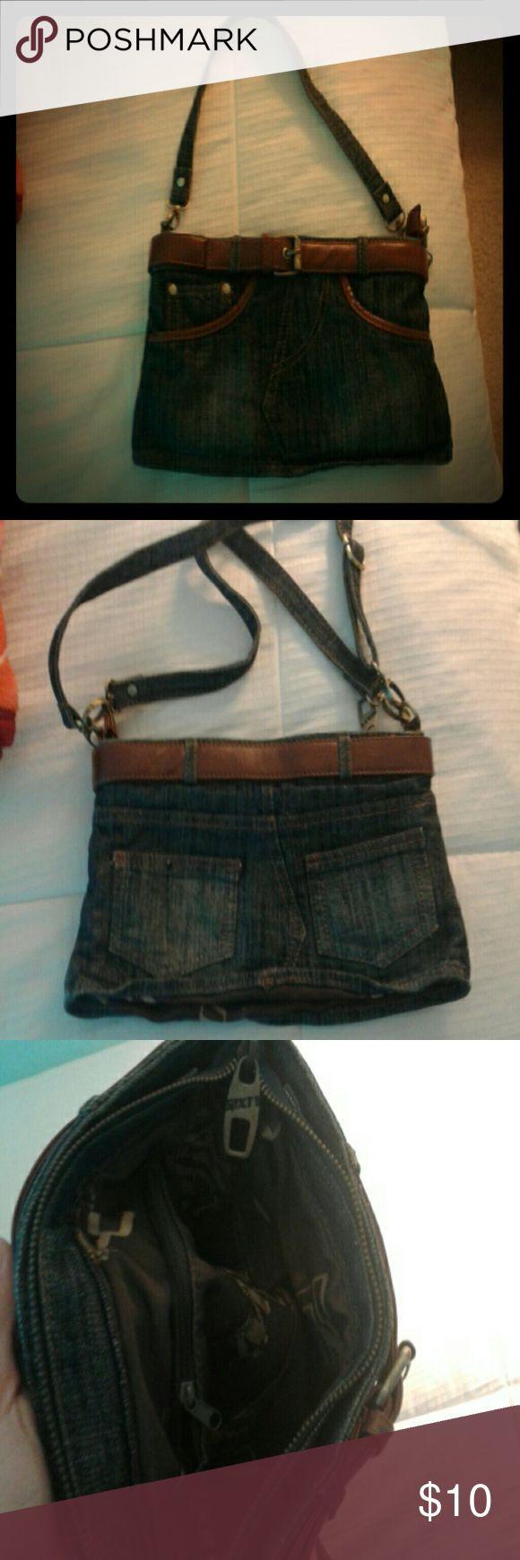 Miss Sixty Denim Skirt purse New Miss Sixty handbag Miss Sixty Bags Crossbody Bags