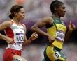 outh Africa's Caster Semenya leads Mauritius' Annabelle Lascar in a women's 800-meter heat during the athletics in the Olympic Stadium at the 2012 Summer Olympics, London, Wednesday, Aug. 8, 2012. (AP Photo/Anja Niedringhaus) - Crazy end to Team USA's soccer match - http://www.PaulFDavis.com/success-speaker (info@PaulFDavis.com) www.Facebook.com/speakers4inspiration www.Twitter.com/PaulFDavis