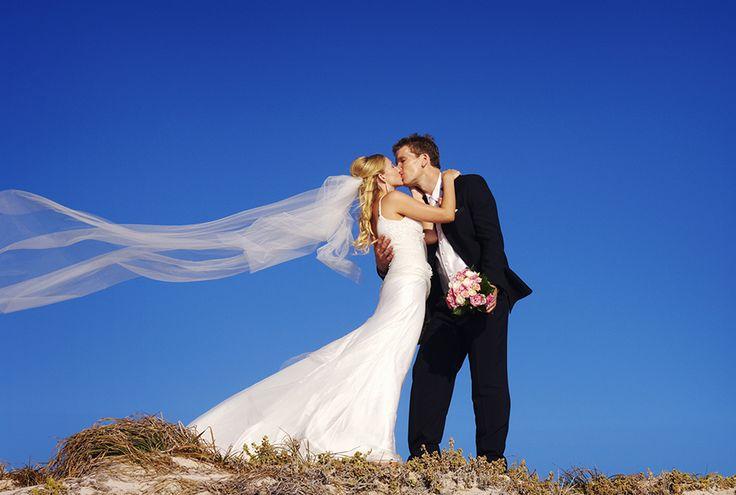 Beach wedding photos #perth #westernaustralia #beach #wedding #kiss #photography http://www.peteredwardsphotos.com.au