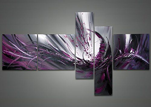 Globalartwork- Handpainted 5 Piece Modern Abstract Oil Painting on Canvas Wall Art Pictures for Living Room Framed Ready to Hang As Unique Gift Global Artwork http://www.amazon.com/dp/B00UX0H6SQ/ref=cm_sw_r_pi_dp_SXM6wb0CNTW9E