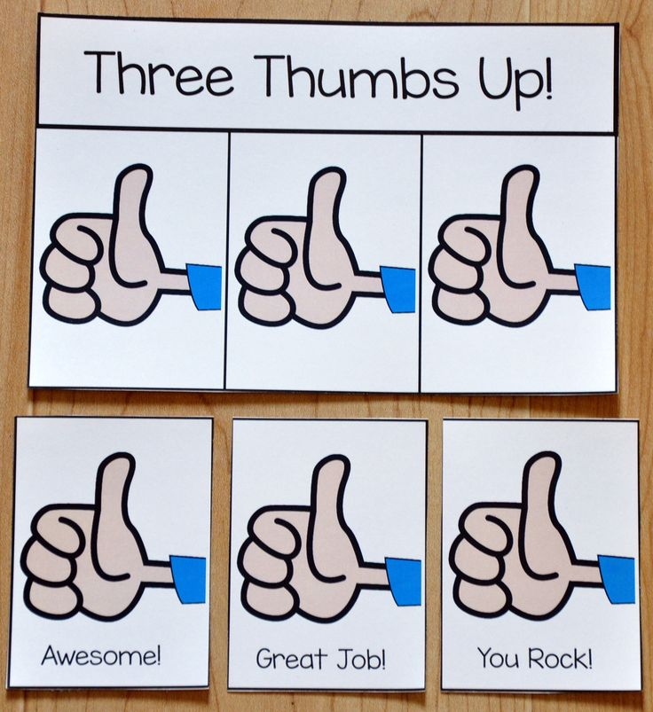 Free Visual Supports for Behavior--Three Thumbs Up Card--This printable behavior support is for students with Autism and other visual learners. This positive reinforcement card is ideal for students who have difficulty completing tasks, difficulty performing a desired behavior, or in ABA training situations.