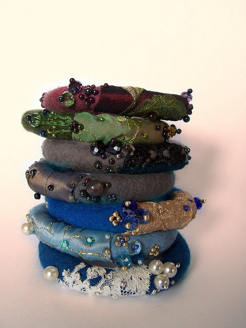 Felted bracelets | Flickr - Photo Sharing!