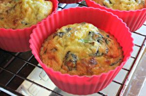 These bacon and egg coconut flour muffins are easy to make and are wonderful high protein breakfast option. - S
