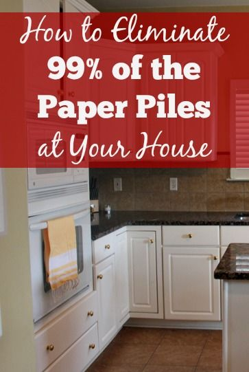 How to Eliminate 99% of the Paper Piles at your House!! Struggling with paper piles at your house? This post shares the keys I've taken to eliminate almost all of the paper piles at our house. It's not at all as hard as it may seem. I dare you to try the system and see if it works for you, too!