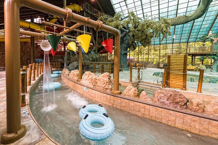 Gatlinburg vacation package and gatlinburg indoor water park in the Smoky Mountains. 3 days and 2 nights plus 2 tix to Wild Bear Falls Indoor Water Park.