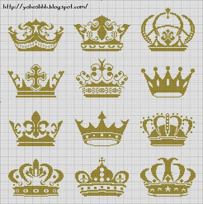 crown free cross stitch pattern http://yohoshhh.blogspot.com/2012/09/korona.html