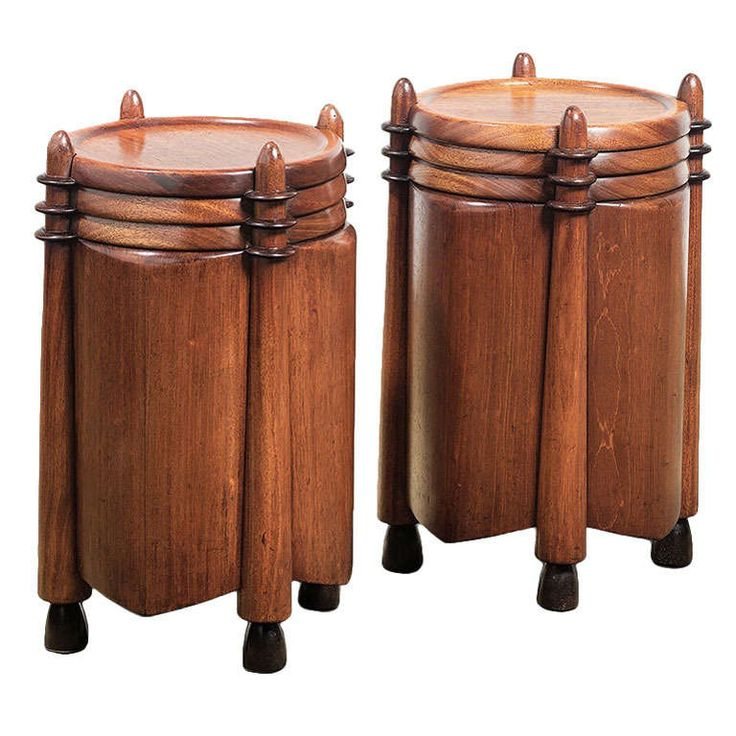 Michel de Klerk, Art Deco Pedestals Early 1900s | From a unique collection of antique and modern pedestals at http://www.1stdibs.com/furniture/tables/pedestals/