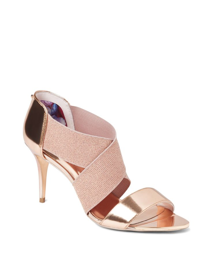 Women's Leniya rose gold leather sandals Sale - Ted Baker