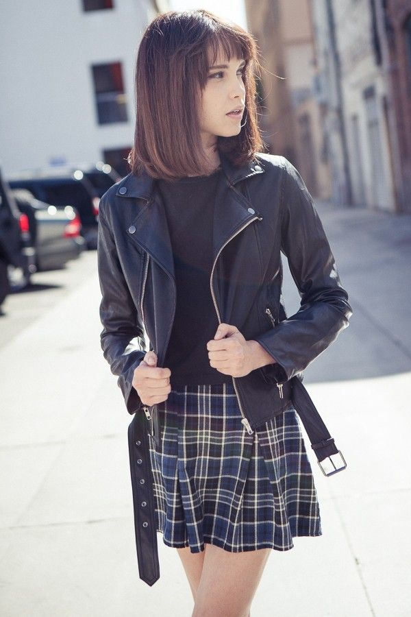 Brandy ♥ Melville | Zip Up Leather Jacket - Outerwear - Clothing