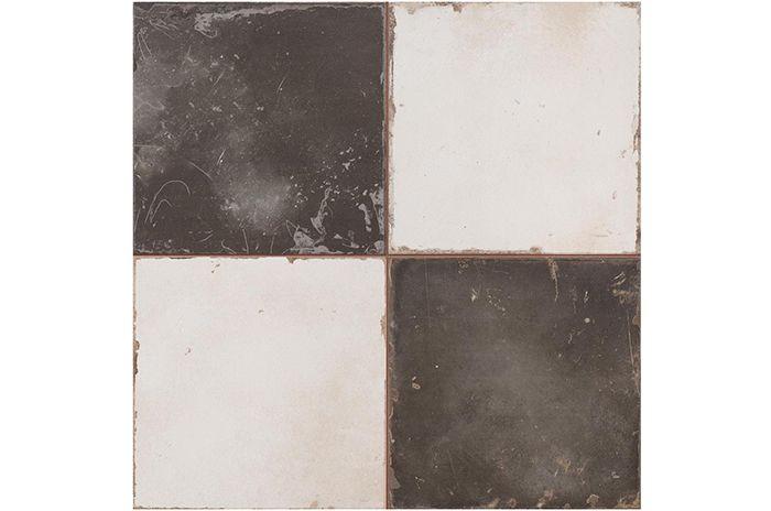 Imagen del pavimento de gres vintage diseño Damero, Francisco Segarra.