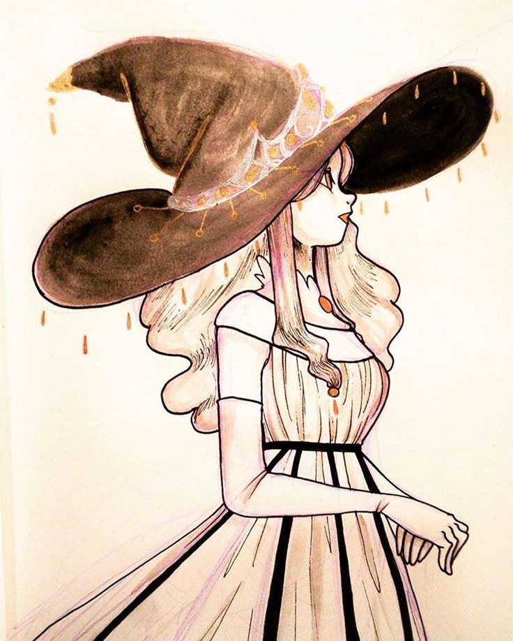 Inktober Day 15: Royal Witch