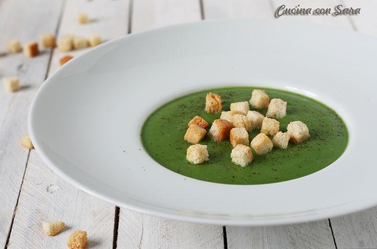 Vellutata broccoli e patate con crostini - ricetta salutare!
